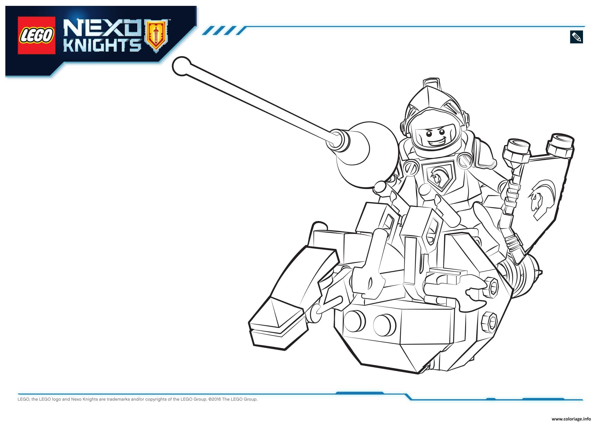 Coloriage Lego Nexo Knights Lance 1 Jecoloriecom