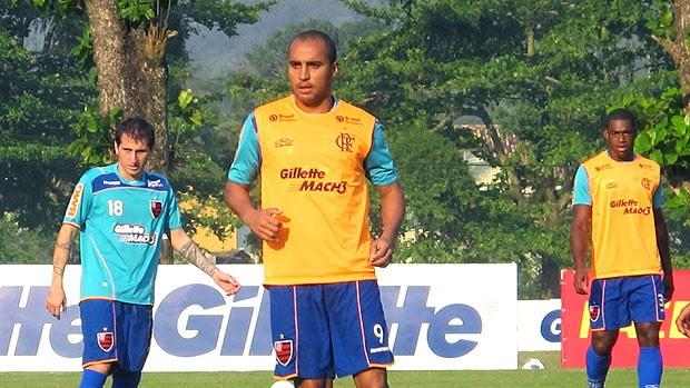 Deivid no treino do Flamengo (Foto: Richard Souza / GLOBOESPORTE.COM)