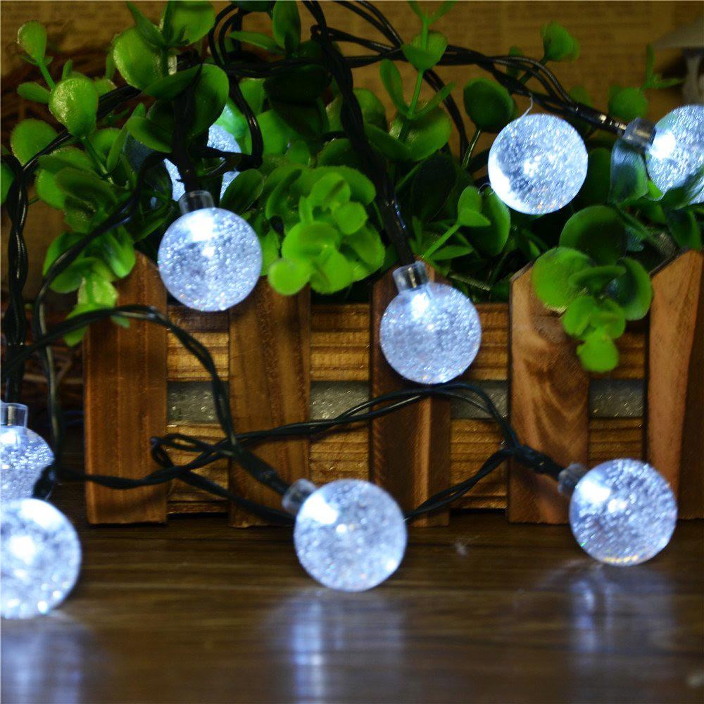 Crystal Ball Globe Fairy Strip Lights 6M 30 LED Solar Powered led Outdoor String Lights for