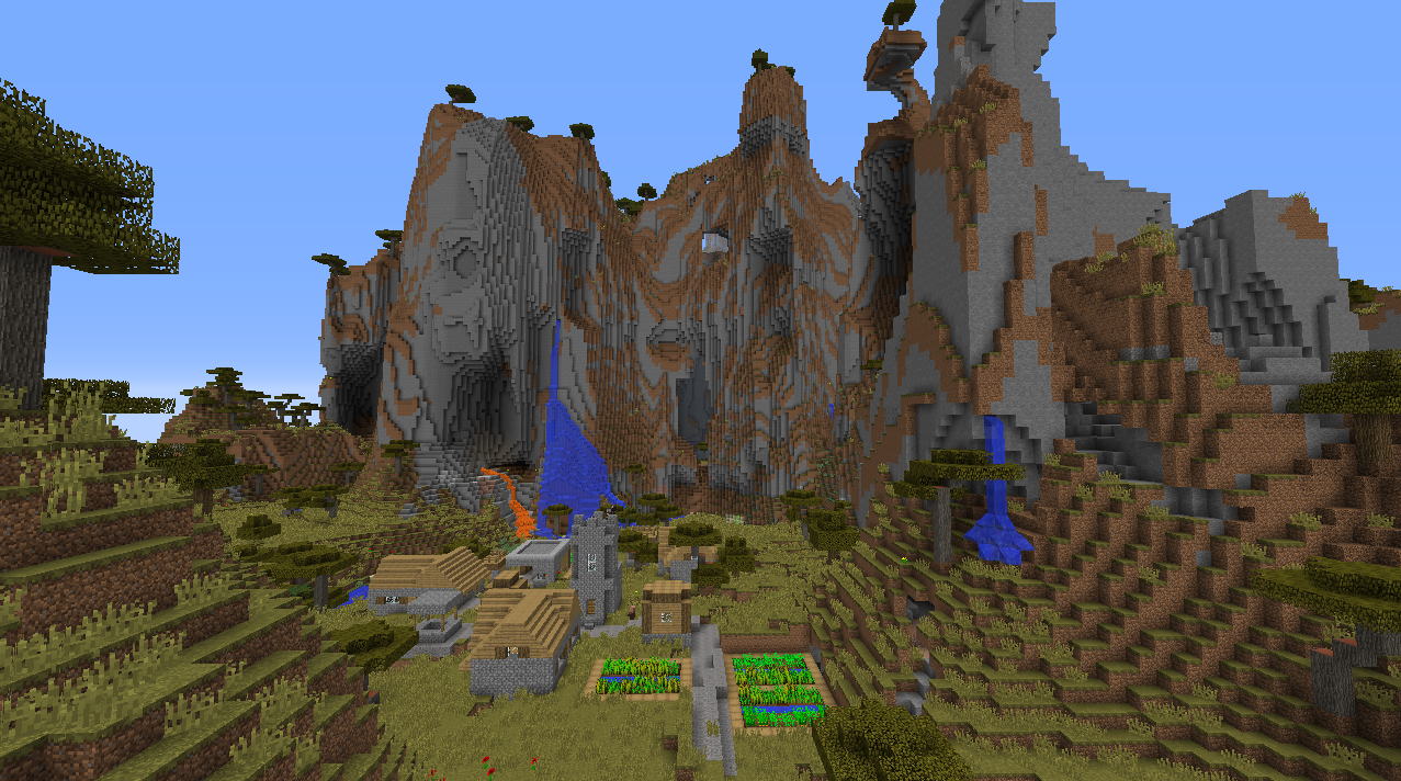 Minecraft Diamond Village Seed Pe - Lock Down b