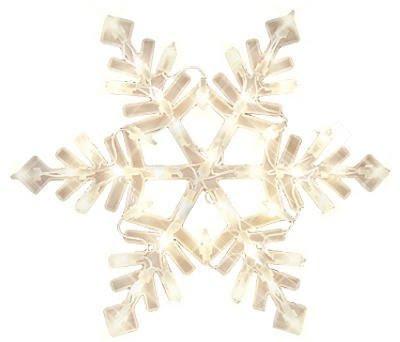 Impact Innovations Christmas Lighted Window Decoration, Snowflake