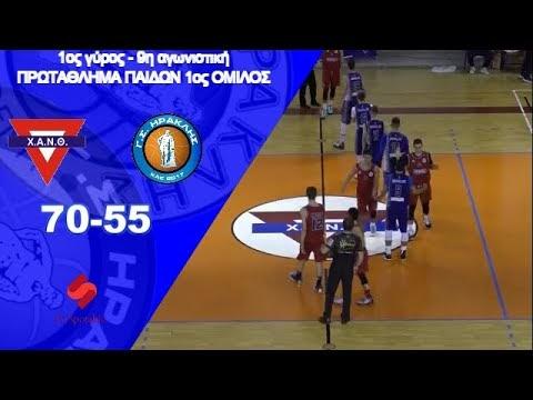 Στιγμιότυπα από τον αγώνα παίδων ΧΑΝΘ-Ηρακλής 70-55