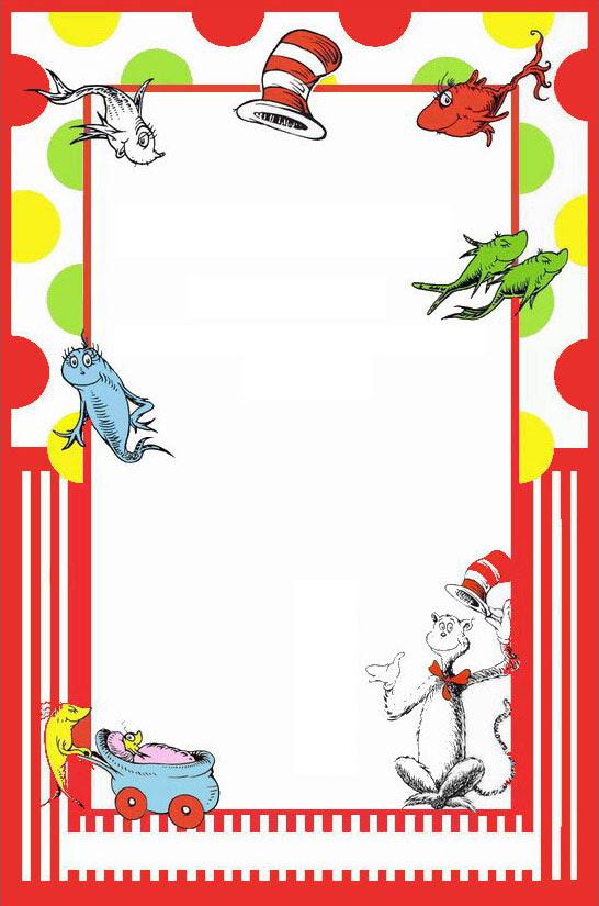 Dr Seuss Printable Invitation template