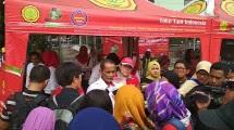 Kepala Badan Ketahanan Pangan (BKP) Kementerian Pertanian, Agung Hendriadi di Pasar Tani Indonesia