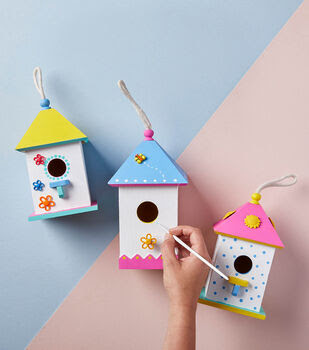 Make Painted Bird Houses