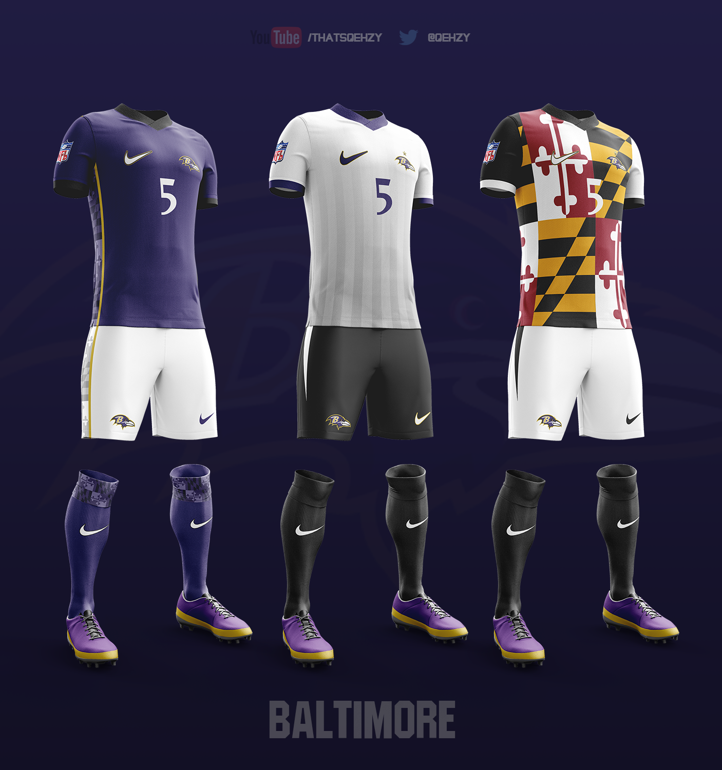 Soccer Kits for All 32 NFL Teams