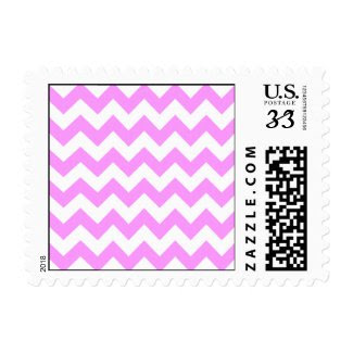 Pink and White Zigzag Stamps