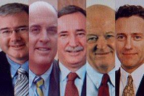 LtoR  Craig Oliver, John Carr-Gregg, Ken Talbot, Geoff Wedlock, and Don Lewis