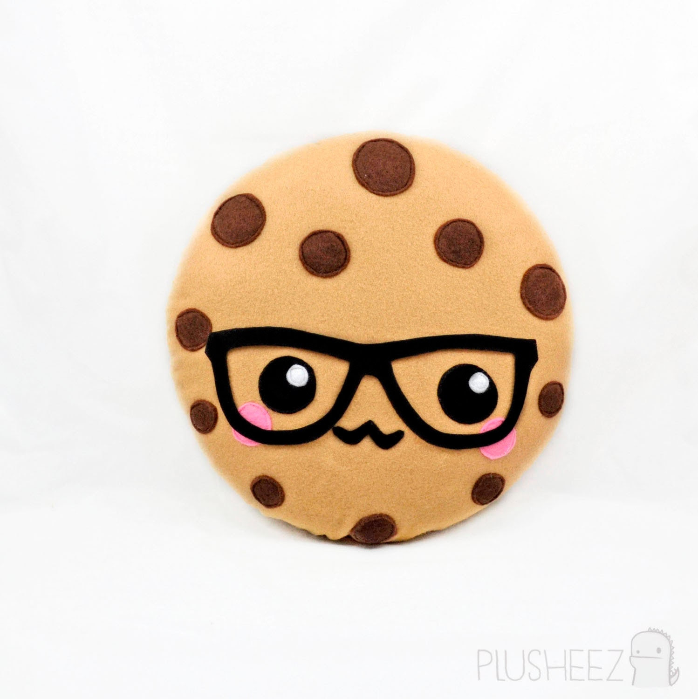 Smart cookie plush toy plushie kawaii novelty food by Plusheez