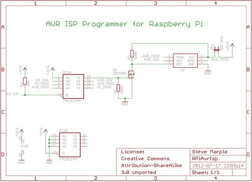 AVR ISP Programmer for Raspberry Pi