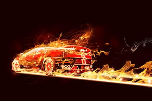 Flaming Car in Photoshop