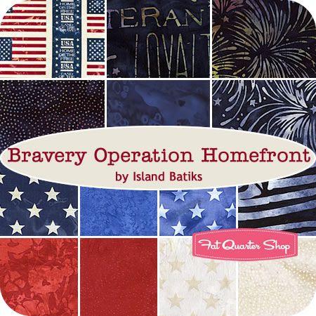 Bravery Operation Homefront Fat Quarter Bundle Island Batiks - Fat Quarter Shop