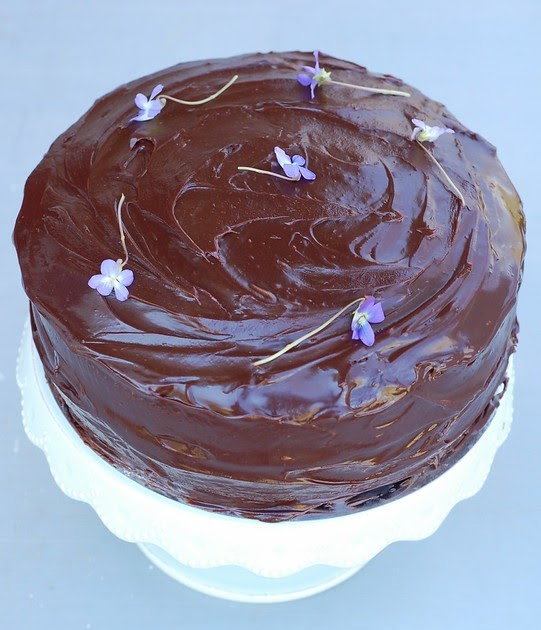 Maida Heatter Sour Cream Chocolate Cake