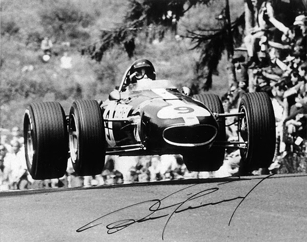 Dan Gurney's Eagle flying in 1967