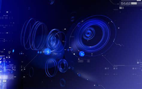 Círculos azules Tecnología fondos de pantalla   Círculos