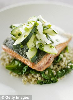 Perfect lunch: Salmon and salad