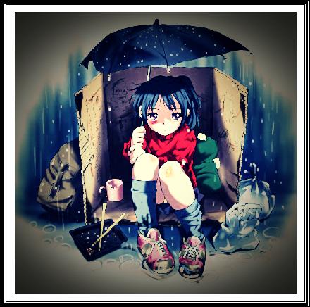 anime poor homeless girl in the rain phi stars9