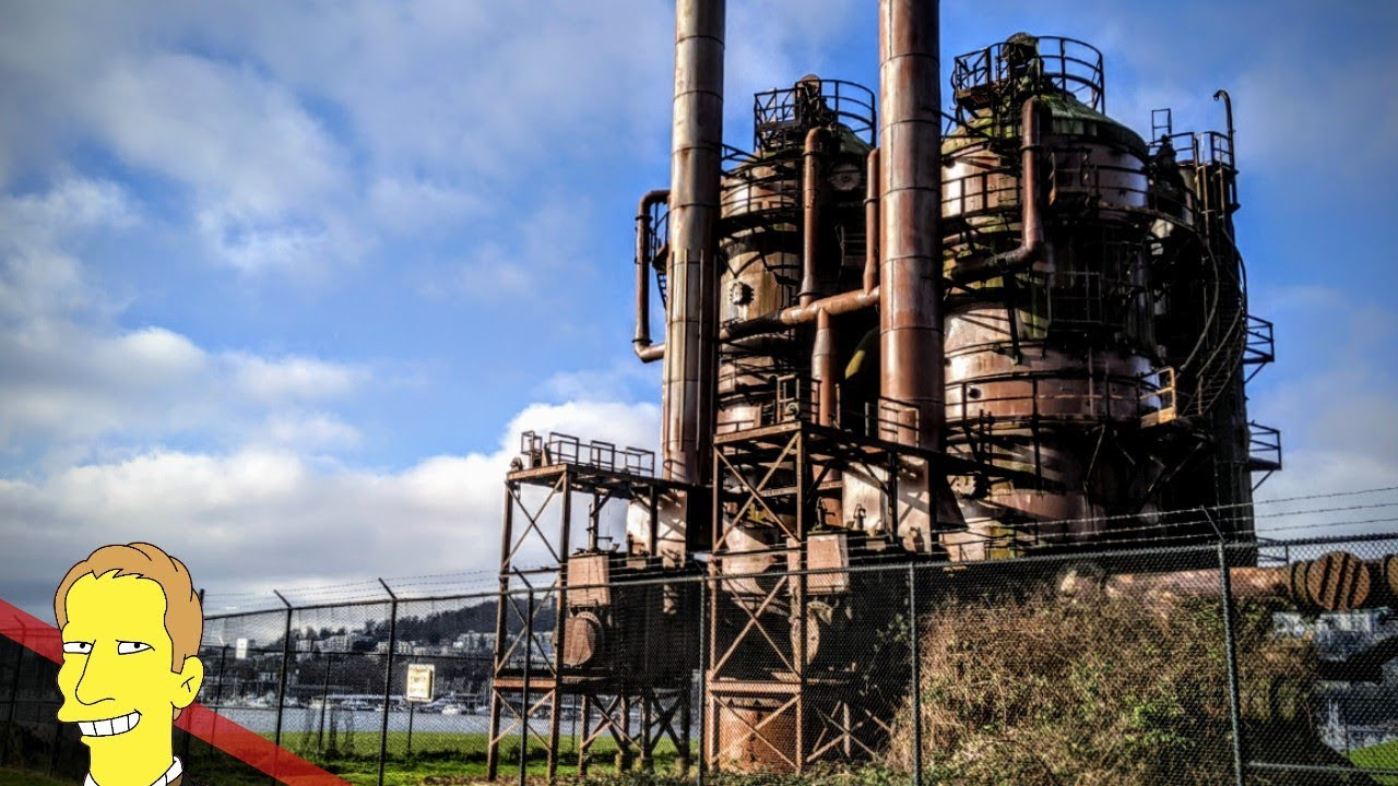 Historic Industrial buildings in Seattle's Gas Works Park