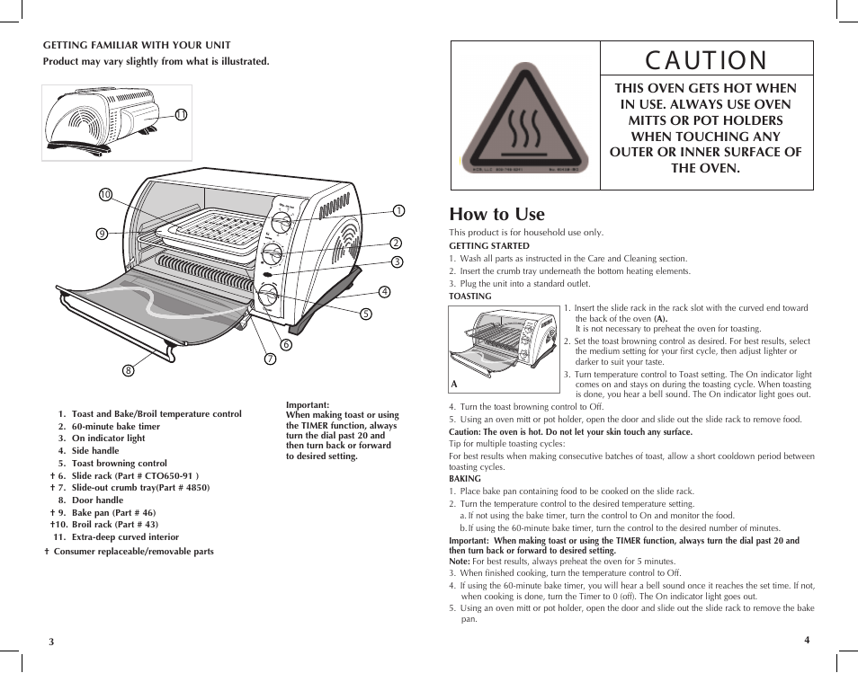 How to use   Black & Decker TOASTER-R-OVEN CTO649 User ...