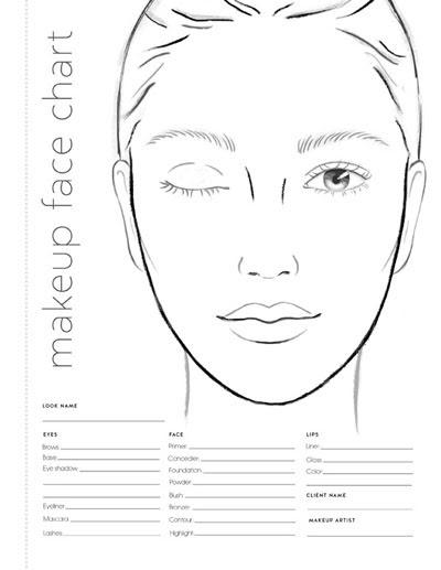Face Makeup Drawings