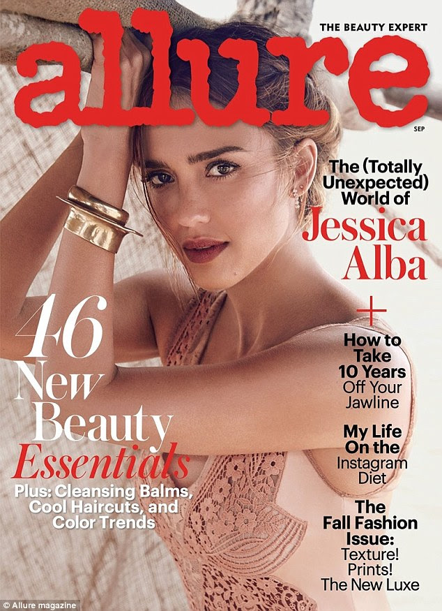 'I'm not into them now the way that I was': Alba covered this year's September issue of Allure and revealed therein that she regrets her tattoos