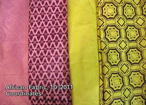 African Fabric, 10-2011 Coordinates