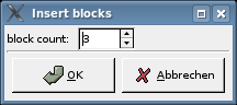 block insertion dialog