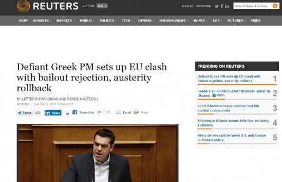 Το πρώτο... αίμα - Reuters: `Ο προκλητικός Τσίπρας φέρνει την ρήξη`