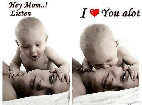 Mothers Day Cute Child And Mother