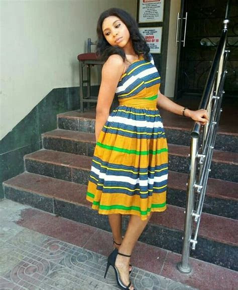 Lady In Beautiful Igala Traditional Print One Arm Dress
