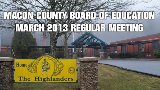 Board of Education March 2013