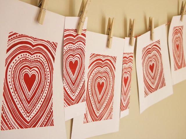 Heart Linocut