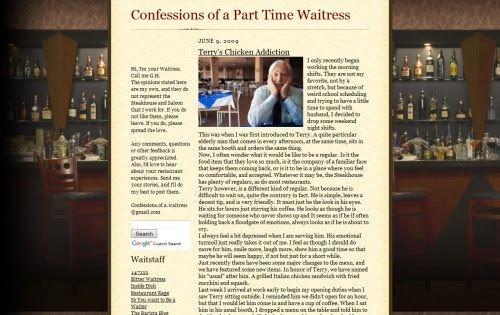 Confessions of a Part Time Waitress