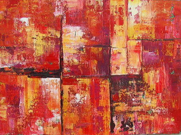 Abstraction Rouge Essai 17 Peinture Acrylique Photographies