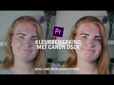 Kleur bewerken (Lumetri Color) met Canon camera