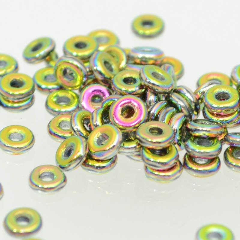 s39544 Czech Seedbeads -  O Beads - Jet Vitrail Full