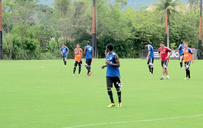 jogadores treino do Flamengo (Foto: Janir Junior)