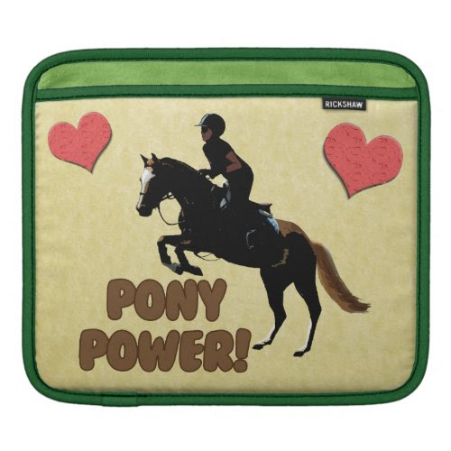 Cute Pony Power Equestrian iPad Sleeve