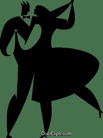 社交ダンス ロイヤリティ無料ベクタークリップアートイラスト Vc027776