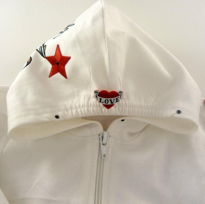 Rose Vintage Tattoo Hoodie Jacket
