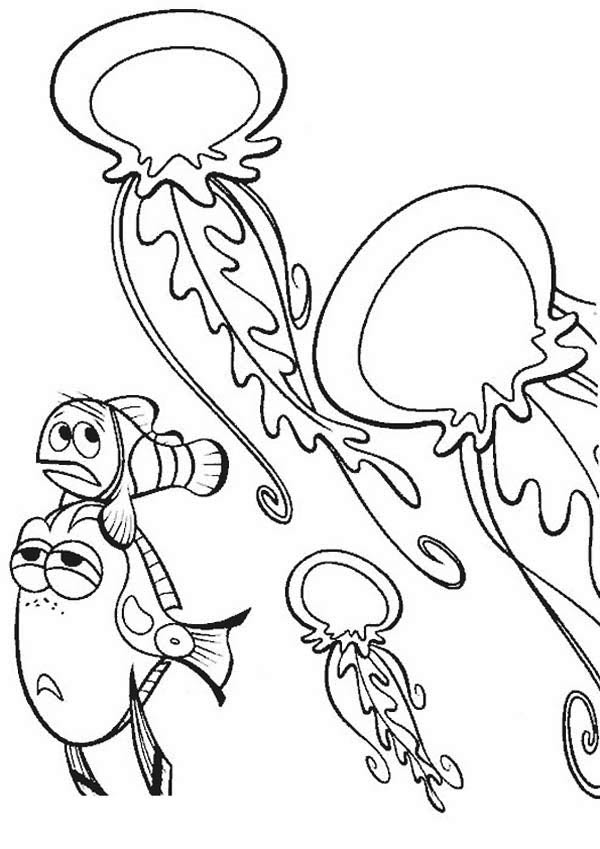 Jellyfish Tentacles Coloring Pages