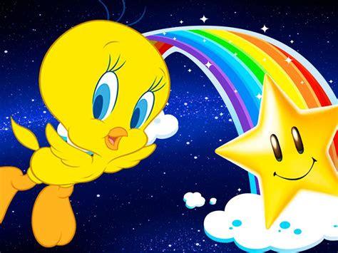 cartoon looney tunes tweety bird  star graphic background desktop hd wallpaper