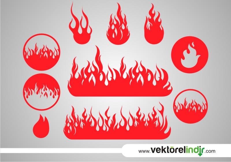 Ateş Alev Vektörel çizim Grafik Vektörelindircom ücretsiz