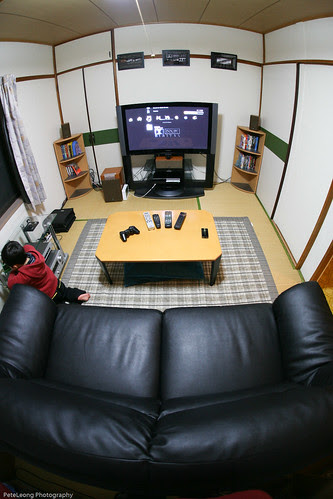 The new home theater room