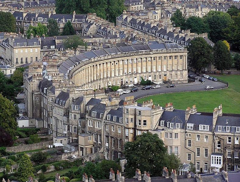 Royal Crescent en Inglaterra | John Wood | Historia de la arquitectura georgiana en Bath