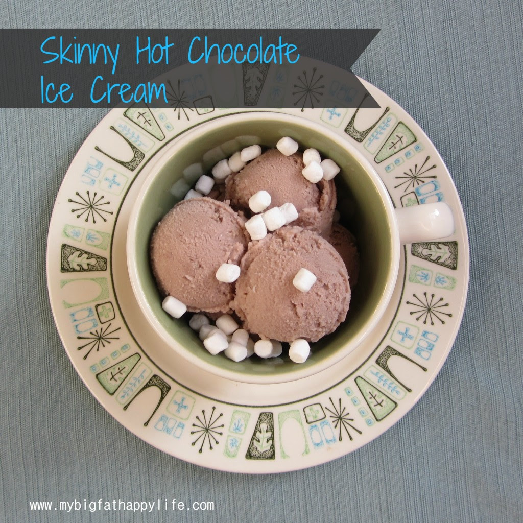 Skinny Hot Chocolate Ice Cream | mybigfathappylife.com