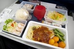 Dinner, Delta Airline, Narita to San Francisco
