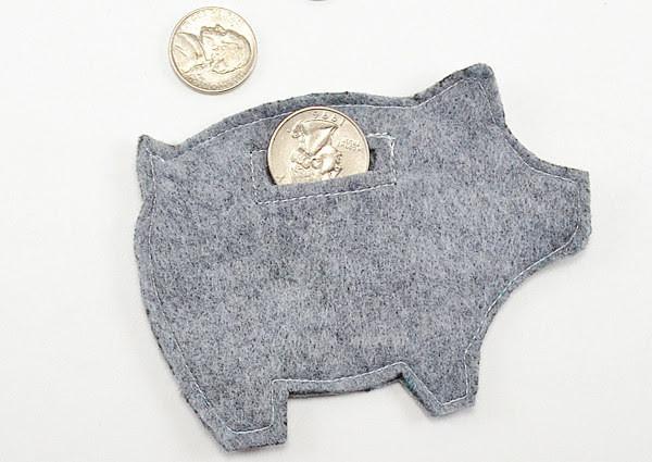 28. Фетровая свинья-копилка дети, поделки, своими руками, сделай сам, творчество
