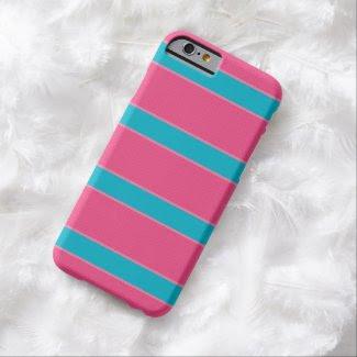 Iphone Case - Líneas Rosa y Azul