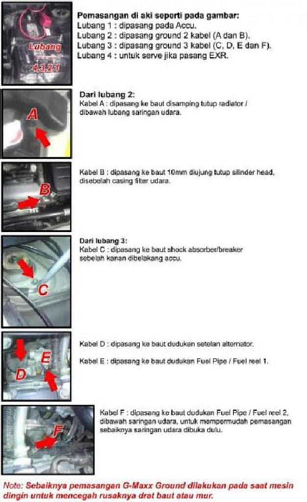 Penambahan titik kabel ground pada Suzuki Karimun Penambahan titik kabel ground pada Suzuki Karimun